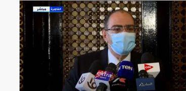 الدكتور حسام حسني، رئيس اللجنة العلمية لمكافحة فيروس كورونا المستجد «كوفيد19»