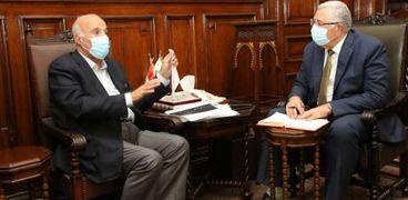 السيد القصير وزير الزراعة يبحث مع محمود العناني رئيس مجلس إدارة اتحاد الدواجن