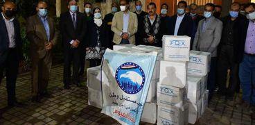 أعضاء النواب والشيوخ يتبرعون بـ 2300 ماسك عالي الكفاءة لصحة الفيوم