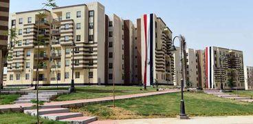جانب من أعمال مشروع الإسكان لصالح أهالي المناطق العشوائية بالجيزة