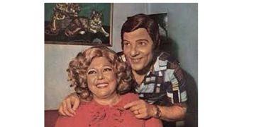 الفنانة تحية كاريوكا وزوجها السابق فايز حلاوة