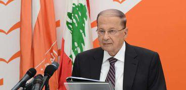 الرئيس اللبناني ميشال عون أكد تمسكه بحقوق بلاده النفطية