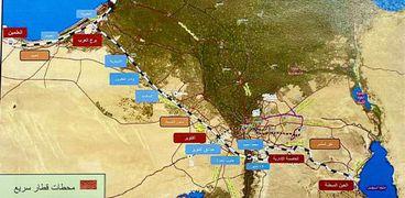 تنفيذ أول قطار سريع فى مصر  العاصمة الإدارية - العين السخنة
