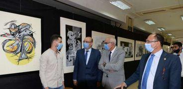 افتتاح معرض فنون جميلة بجامعة المنصورة