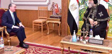 البابا مع وزير خارجية أرمينيا