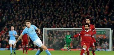 محمد صلاح في مباراة ليفربول ضد مانشستر سيتي