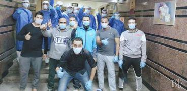 أطباء الدقهلية في مستشفى العزل