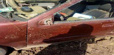 إصابة 3 أشخاص في حادث انقلاب سيارة بالفيوم
