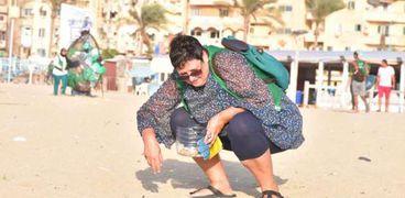 تنظيف شاطئ الأنفوشي في الإسكندرية