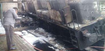 حريق جرار أبوغاطس بمحطة مصر