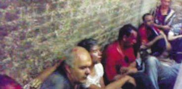 أفراد قسم شرطة كرداسة بعد التعدي عليهم من قبل المتهمين