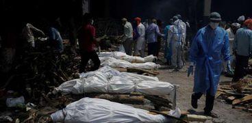 محارق جثث كورونا فى الهند