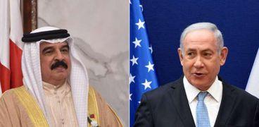 رئيس الوزراء الإسرائيلي بنيامين نتنياهو وملك البحرين حمد بن عيسى آل خليفة