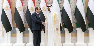 الرئيس عبدالفتاح السيسي و الشيخ محمد بن زايد آل نهيان