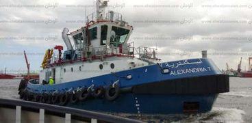 """قاطرتان بحريتان جديدتان """"4"""" و """"7"""" تدخلان الخدمة بميناء الاسكندرية"""