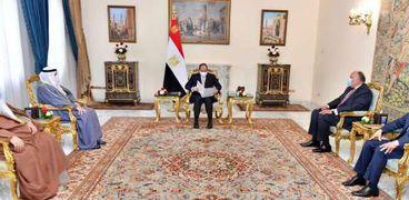 الرئيس عبد الفتاح السيسي يستقبل وزير خارجية الكويت
