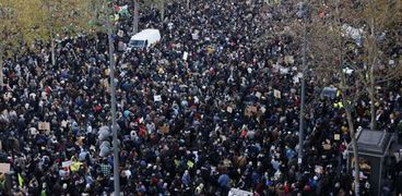 مظاهرات فى فرنسا