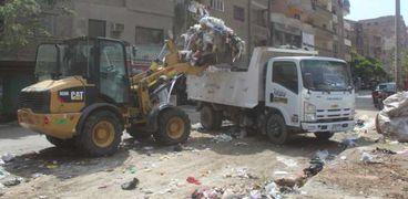 الجيزة : رفع مخلفات وقمامة فى عيد الاضحى