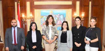 وزيرة الهجرة تلتقي أعضاء «حياة كريمة»: نتعاون لإدماج جهود أبناء الخارج بالمبادرة