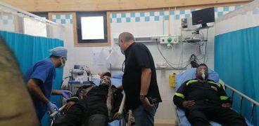 صورة للمصابين في الحريق