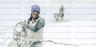 عمال أحد محاجر المنيا.. صورة أرشيفية