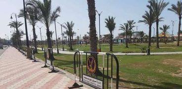 إغلاق الشواطىء والحدائق ببورسعيد