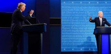 بايدن وترامب في مناظرة سابقة بينهما خلال الانتخابات الرئاسية الأمريكية الأخيرة