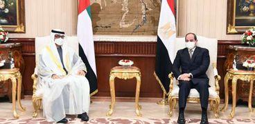 الرئيس عبدالفتاح السيسي والشيخ محمد بن زيد أل نهيان
