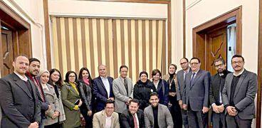 تنسيقية شباب الأحزاب والسياسيين  خلال لقاء رئيس الهيئة الوطنية للصحافة
