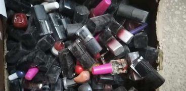 أدوات التجميل المضبوطة قبل عيد الفطر