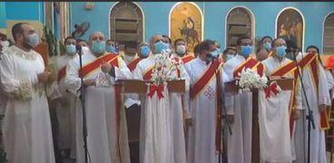جانب من قداس عيد الميلاد آلمجيد بكاتدرائية رئيس الملائكه بأسيوط