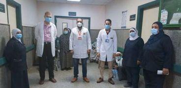 تعافي 10 مصابين من كورونا في مستشفى الواسطى ببني سويف