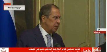 سيرغي لافروف وزير الخارجية الروس