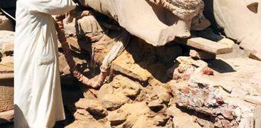 ترميم الكباش الفرعونى ارشيف
