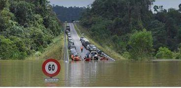 فيضانات جراء الأمطار الغزيرة في ماليزيا