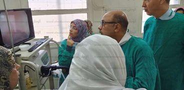 إفتتاح وحدة مناظير وعيادة الجهاز الهضمي والكبد بمستشفى أسيوط العام