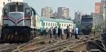تعطل حركة القطارات للوجه القبلي صباح اليوم بمحطة مصر