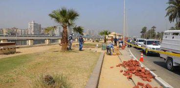 """محافظة سوهاج: استجابه للأهالي.. سور """"شارع مصر"""" من الكريتال"""