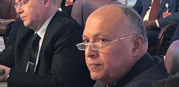 وزير الخارجية خلال الاجتماع