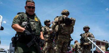عناصر من الجيش فى ولاية تكساس