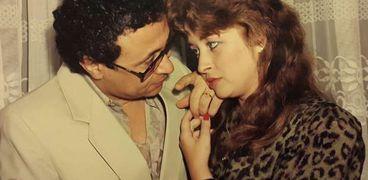 مراد منير بصحبة زوجته فايزة كمال