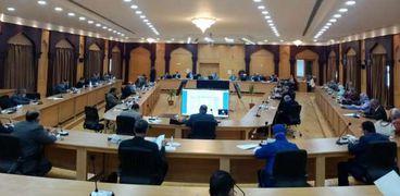 مجلس جامعة الأزهر في اجتماع سابق