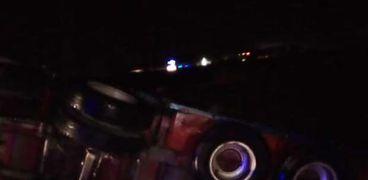 إصابة شخصين في انقلاب سيارة محملة بالقمح غرب الإسكندرية