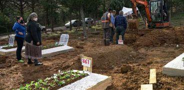 دفن ضحايا كورونا