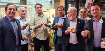 رئيس البرازيل ومرافقيه