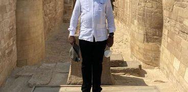 رئيس كينيا يزور الأهرامات