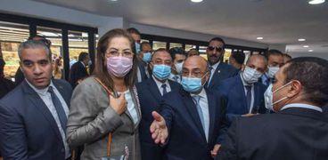 وزير العدل ووزيرة التخطيط في الإسكندرية