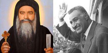 البابا كيرلس وعبدالناصر
