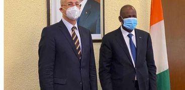 وزير خارجية كوت ديفوار يستقبل السفير المصري