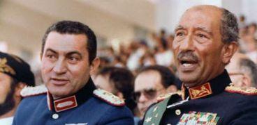 الرئيسان السادات ومبارك